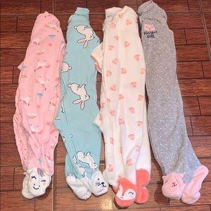 Bundle of baby girl footies